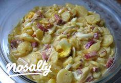 Krumplisaláta gazdagon | Nosalty Veggie Recipes, Salad Recipes, Dinner Recipes, Cooking Recipes, Veggie Meals, Hungarian Cuisine, Hungarian Recipes, Cold Dishes, Yummy Food