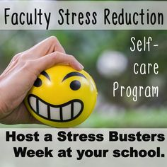 """Counselors """"Stress Busters Week"""" for faculty and staff. Morale booster.  -Includes a Powerpoint -Inspirational Wall Signs -Faculty Meeting Game -Tips for a successful """"Stress Busters Week"""" program at your school"""