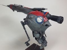 Luna Pawn long range sniper type. WAVE Ma.K. 1/20 scale Luna Pawn remodeled. By katoya. #Ma_K #Maschinen_Krieger