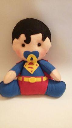 Super Homem Baby - bonecos de feltro