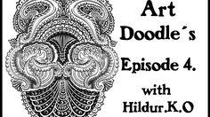 Art Doodles with Hildur.K.O Episode 4 #illustration  #drawing  #youtube #doodles # abstract # timelapse  #artwork #inspiration #meditation #coloringforadults