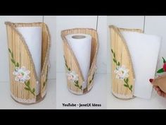 How to make a beautiful basket with jute rope and plastic bottle Jute Crafts, Diy Home Crafts, Diy Arts And Crafts, Creative Crafts, Diy Para A Casa, Diy Popsicle Stick Crafts, Plastic Bottle Crafts, Paper Towel Holder, Cardboard Crafts