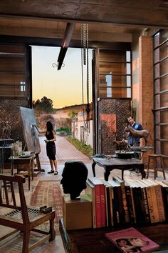 Artist Rina Stutzer and sculptor Angus Taylor's studio. Pretoria. Photo by DOOK