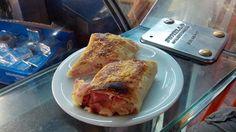 """Carioca cheese and ham pastry called """"joelho""""  -  Rio de Janeiro"""