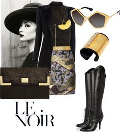 """""""Noir"""" by kathleen-anna-sorg ❤ liked on Polyvore"""