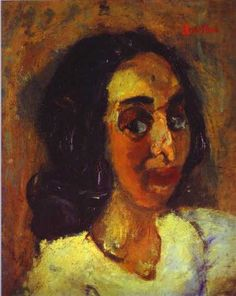 Portrait of a Woman - Soutine, Chaim (French, 1894 - Fine Art Reproductions, Oil Painting Reproductions - Art for Sale at Galerie Dada Classic Paintings, Paintings I Love, Oil Paintings, Modigliani, Chaim Soutine, Jewish Art, Female Portrait, Woman Portrait, Oil Painting Reproductions