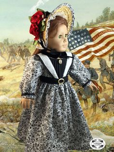 Civil War Doll Dress American Girl by CrabapplesBoutique on Etsy