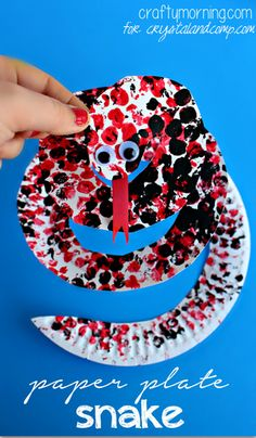 Bubble Wrap Paper Plate Snake Craft