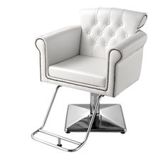 Cornwall White Salon Chair  sc 1 st  Pinterest & Wholesale Salon Chairs - Hydraulic Styling Chairs with Square Base ...