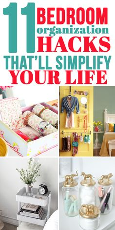 I love these bedroom organization hacks!