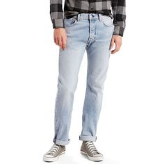 Men's Levi's® 501® Original Fit Stretch Jeans, Size: 36X30, Light Blue