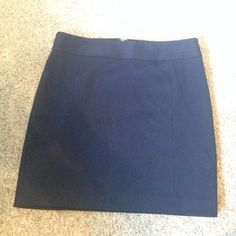 Express Navy Blue Dress Skirt - Size 2 Excellent condition!! Express navy blue mini skirt, was part of a skirt suit. The quality of Express suit line but length is perfect to wear for a night out! Has a tiny bit of stretch to it. Fully lined with no rips, holes, or stains. Zipper and zipper clasp. Reasonable offers welcomed :) Express Skirts
