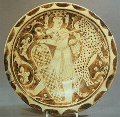 Fatimid Infantryman on Lustreware Plate, 12th Century  Source: StudyBlue…