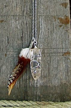 Flying Crystal Necklace by thebohemianhobo on Etsy, $48.00