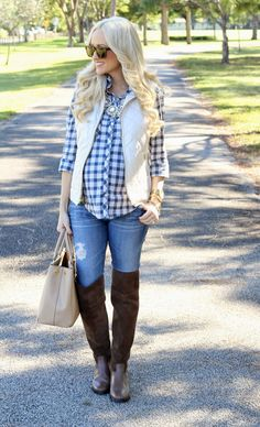 A Spoonful of Style: Plaid and A Puffer Vest