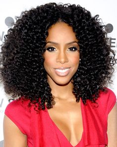Kelly Rowland's Soft Black Curls