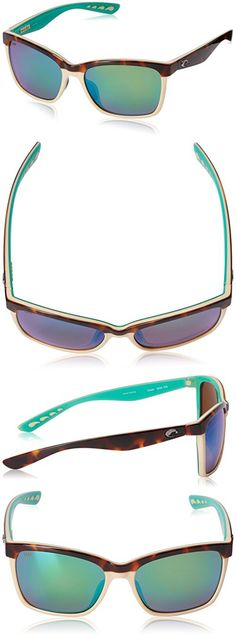 f37b52313572 Costa del Mar Women's Anaa Polarized Cateye Sunglasses, Retro  Tort/Cream/Mint, 55.4 mm