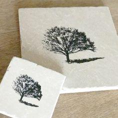 TREE design natural stone tableware by ENCOREHOMEgift on Etsy & PHEASANT natural stone platter/coaster tableware various   ENCORE ...