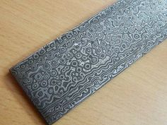 "10""Rain Drop Pattern Damascus Billet Bar for Knife Blade Making supply"