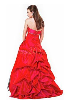 lace-up sweetheart ball gown natural sleeveless taffeta tulle beading ruching pleats prom dress