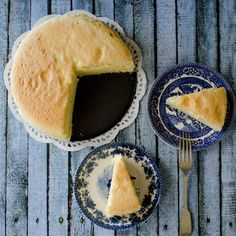 Soft and fluffy textured cheesecake is nothing like you've eaten before.  Gently flavored with cream cheese and slowly baked to delight.
