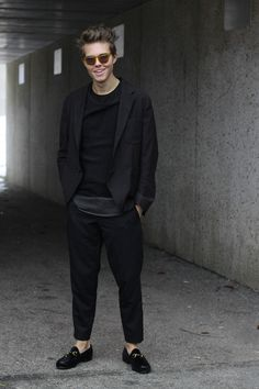 Blogger Andreas Wijk wearing the Gucci 1953 Horsebit Loafer