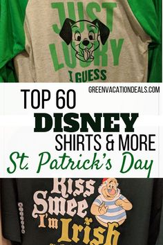 Visiting Disney World or Disneyland on St. Patrick's Day? Taking a Disney cruise? Just want to show off your love of Disney & St. Patty's Day? Then check out our top St. Patrick's Day shirts & accessories! Themed to popular Disney characters (like Darth Vader, Olaf, Mickey, Minnie, Stitch, Baby Yoda, Chip & Dale, etc.) & theme parks #Mandalorian #BabyYoda #DarthVader #Frozen2 #StPatricksDay2020 #Disneyparks #Disneyplanning #Disneyshirt #Mouseears #MickeyEars #MinnieEars #LoveDisney…