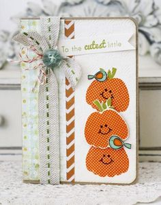 Papertrey Ink Supplies Used: Stamps: Polka Dot Parade #8 and Little Bitty Bird Ink: Orange Zest, Simply Chartreuse, and Smokey Shadow T...