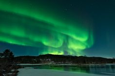 Auroras boreales desde Tennevika, Noruega. Crédito: Rune Engebø