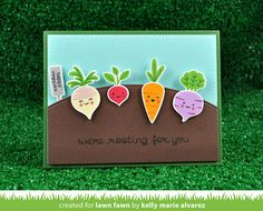 the Lawn Fawn blog: Rooting For You Card by Kelly Marie Alvarez.