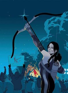 The Hunger Games - Katniss by Tomer Hanuka *
