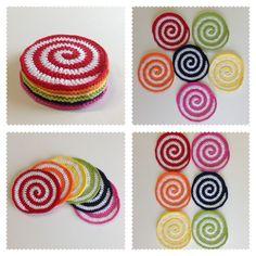 Posavasos de crochet http://es.dawanda.com/product/45790278-Posavasos