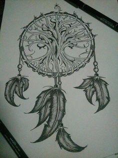 new Ideas for life tree tattoo ideas dream catchers Tattoo Life, Atrapasueños Tattoo, Angle Tattoo, Tattoo Drawings, Placement Tattoo, Trendy Tattoos, Love Tattoos, Beautiful Tattoos, Body Art Tattoos