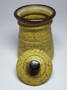 Lidded Covered Jar Pot Container Mid Century Danish Modern Eames Style | eBay