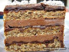 Gaga u kujni: Žerbo torta Torte Recepti, Kolaci I Torte, Bakery Recipes, Cookie Recipes, Dessert Recipes, Chocolate Pumpkin Bread, Torte Cake, Easy Cake Decorating, Croatian Recipes