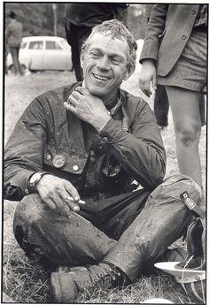 Steve McQueen motorcycle race