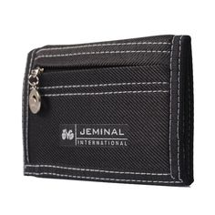1pc Causal Style Boy's Canvas Wallet Short Design Men Wallets Zipper Coin Purse Card Holder For Teenager -- BID047 PM15