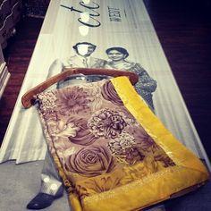 #ctcwest #saree #sareeswag #formalwear #s150 #yellow #floral #patterns