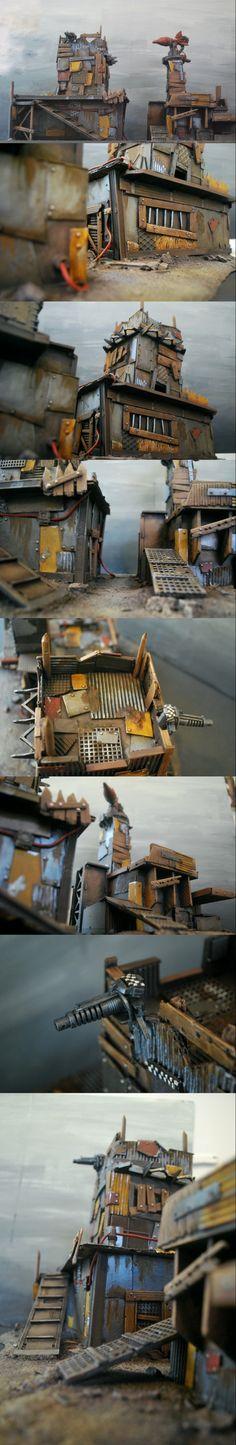 Dakka Dakka, Derelict, Do-it-yourself, Homemade, Orks, Painting, Poorhammer, Rocket, Rust, Scratch Build, Terrain, Terrainwalker, Trash To Terrain, Warhammer 40,000, Weathered, Work In Progress