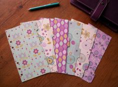 Purple Mint & Cream Planner Dividers - A5 or Personal size available. #filofax