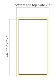 shed plans - small barn - front wall frame. 12x8 Shed, Shed Construction, Small Barns, Clutter Solutions, Free Shed Plans, Shed Doors, Shed Storage, Cozy Cabin, Frames On Wall