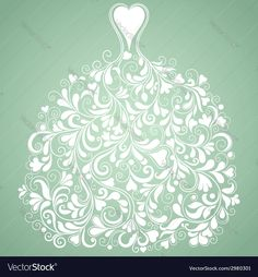 Vintage vector silhouette of perfect wedding dress. Download a Free Preview or High Quality Adobe Illustrator Ai, EPS, PDF and High Resolution JPEG versions.