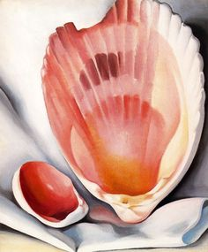 Georgia O'Keeffe - Broken Shell, 1937. Always a lover of Georgia O'Keeffe..