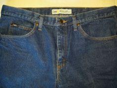 mens Lee regular fit blue Jeans 38 x 29 Classic Straight leg #Lee #regularfit