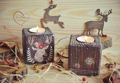 Новости Tall Candle Holders, Christmas Candle Holders, Small Wood Projects, Diy Projects, Shelf Talkers, Christmas Decoupage, Pintura Country, Old Wood, Tea Light Holder