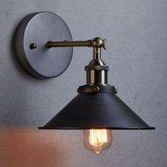 MODERN-VINTAGE-INDUSTRIAL-LOFT-METAL-BLACK-RUSTIC-SCONCE-WALL-LIGHT-WALL-LAMP