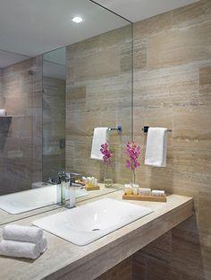 Grand Beach Hotel Surfside Oceanfront Bathroom with Luxury Amenities