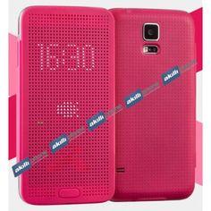 Ally Galaxy S5 G900 Dot View Uyku Modlu İnce Yan Kapaklı Kılıf