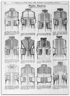 1890-91 Vintage Fash