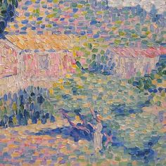 lonequixote:  The Pink House (detail) by Henri Edmond Cross (via @lonequixote)